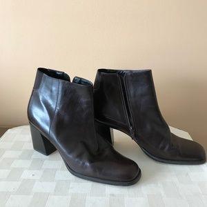 Nine West chocolate color booties